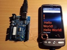 Random Tech Stuff: Arduino to Android IO on the cheap (aka Poor Man's NFC)