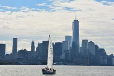 Sailing with the brand new Manhattan skyline