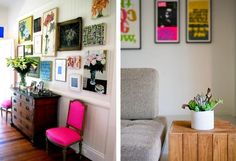 Love the pink chair.
