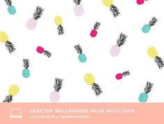 Colorful Pineapple Free computer desktop background. #positive #inspiring #motivating