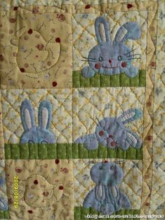 Finished Bunny quilt and pattern is also  pinned in this category! Look for the free verdin.