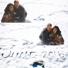 #baby #announcement #snow Snow happy. Snow scared. Snow lie... We're having a baby.