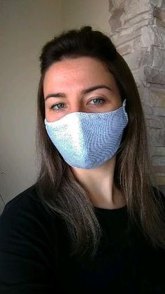 Handmade Cotton Face Mask  The face mask is made of 100% cotton.  This product has a filter pocket. Face mask comes without filter !!!  Important: The mask does not protect against the Virus, it helps not to get dirty hands into the mouth and nose, and it is also not medical !!!  If the mask is large for you, you can tighten or loosen the elastic to the length that is most comfortable for you.   The international postal service is busy, and it may take longer than usual. Diy Mask, Diy Face Mask, Face Masks, Scrunchies, Glitter Face, Pocket Pattern, Fashion Face Mask, Go Shopping, Stylish