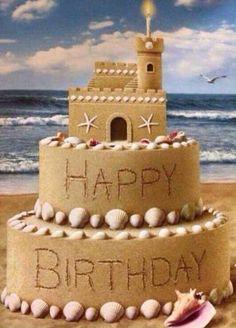 Sandcastle birthday cake!