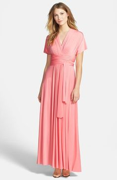 """Color """"Ginger' - Dessy Collection Convertible Front Twist Jersey Gown 