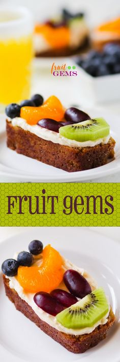 PERFECT BRUNCH FOOD! Moist banana bread topped with cinnamon cream cheese frosting and sliced fresh fruit.