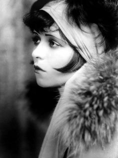 Beautiful Clara Bow in Black and White