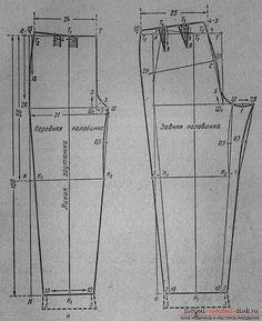 Инструкция по построению выкройки женских брюк классической модели. Фото №2
