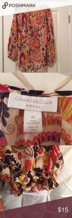 Charter Club Blouse Beautiful pheasant Blouse Charter Club Tops Blouses