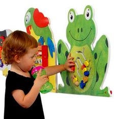 TheFrog Wall Panel Activity Toy brings hopping good fun to any wall. This wall mounted toy is great game for waiting rooms or any place where kids gather and play. If you need children to keep occupie