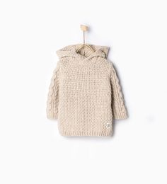 Image 1 of Knit sweater with hood from Zara