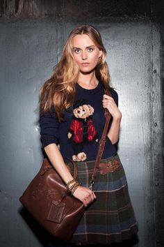 Twitter / RalphLauren: Put a polished twist on the Limited Edition Polo bear sweater