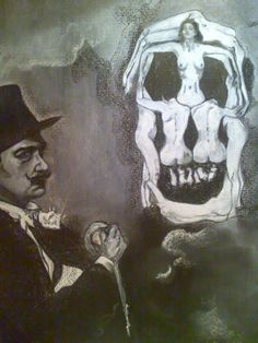 La Calavera de Dali, a Carboncillo