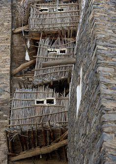 Rijal Alma village, the kitchens- Saudi Arabia by Eric Lafforgue, via Flickr