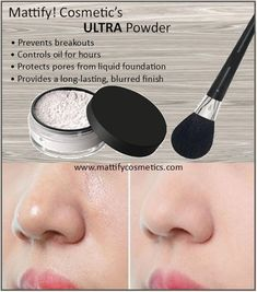 """How to Stop Oily Skin with Mattify ULTRA """"Best Powder for Oily Skin"""" Oil-Control Matte Powder for Baking or Cooking Makeup Vegan Transparent – Oily Skin Care Oily Skin Makeup, Moisturizer For Oily Skin, Oily Skin Care, Tinted Moisturizer, Eye Makeup, Best Primer For Oily Skin, Best Foundation For Oily Skin, Makeup Brushes, Apply Foundation"""