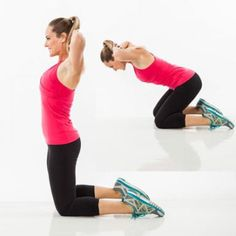 Abs and Back Exercise: Kneeling Deadlift - Bodyweight Workout: The Ultimate Abs and Back Workout Plan - Shape Magazine