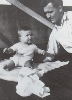 Clint Eastwood with his father