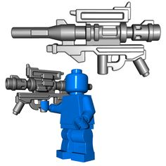 This custom LEGO® gun is definitely not something you want to be on the other end of. Metal Building Kits, Lego Building, Lego Minifigure Display, Steel Sheds, Lego Guns, Lego Creative, Lego Military, All Lego, Lego War