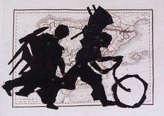 Porter With Bicycle. W. Kentridge