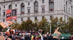 Parade zur gewonnenen Baseball Weltmeisterschaft in San Francisco