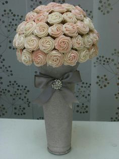 Cupcake bouquet! Cheaper than actually center pieces?