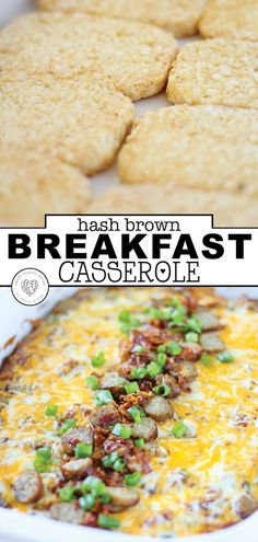 Hash Brown Breakfast Casserole You have to try this delicious breakfast casserole. When you want to have something special for breakfast, try this hash brown breakfast casserole. It is a quick and easy recipe that is sure to please the whole family. Potato And Egg Breakfast, Hashbrown Breakfast Casserole, Best Breakfast, Breakfast Recipes, Breakfast Hash, Brunch Recipes, School Breakfast, Breakfast Ideas With Eggs, Vegetarian Breakfast Casserole