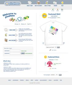 Look at how Pixeltees website looked in 2003 and travel with us through the history of web design. Shirt Drawing, Making Shirts, Design Museum, Shirt Shop, Web Design, Website, Design Web, Website Designs, Site Design