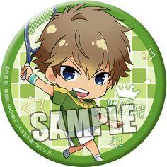 """CDJapan : New Prince of Tennis Can Badge """"Kenya Oshitari"""" Chibi Character Ver. Collectible"""