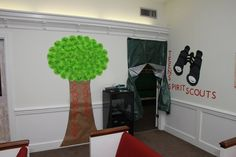 """Camp Courageous VBS - entrance to our Teen class - """"Spirit Scouts"""""""