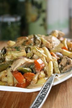 sio-smutki! Monika od kuchni: Potrawka z kurczaka z fasolką szparagową Pasta Salad, Food And Drink, Cooking, Ethnic Recipes, Party, World, Rezepte, Crab Pasta Salad, Cuisine