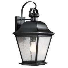 Mount Vernon 1 Light Outdoor Wall Light in Black