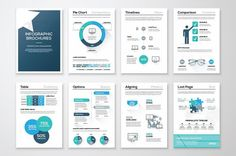 Business infographic : awesome Infographic Brochure Elements 10  #brochure #business #collection #corpo