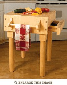 Kitchen Work Center Woodworking Plan
