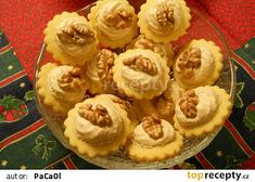 Myslivecké knoflíky recept - TopRecepty.cz Christmas Baking, Christmas Cookies, Cheesecake, Muffin, Pie, Breakfast, Biscuits, Backen, Xmas Cookies