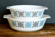 JAJ Pyrex 'Chelsea' 509 and 513 pair of by ThatRetroPiece on Etsy
