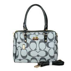 Coach Madison Logo Medium Grey Luggage Bags DKH
