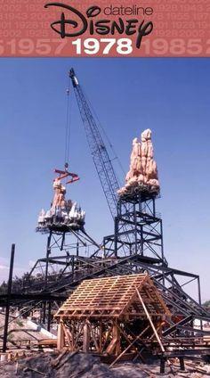 Disneyland's Big Thunder Mountain Under Construction 1978.