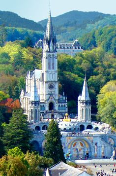 Basilica of Our Lady of the Immaculate Conception, Lourdes, France...Beautiful