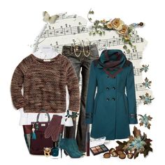 """teal and brown"" by ntina36 on Polyvore"