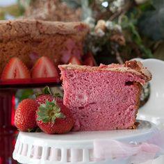 Strawberry Angel Food Cake - gorgeous!