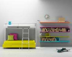 coloured shelves