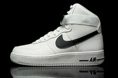 official photos 62532 19f1e nike air force 1 high microperforated white black men shoes