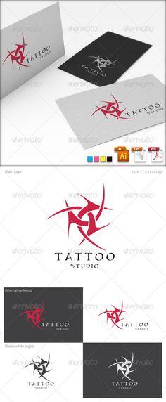 Tattoo Studio  - Logo Design Template Vector #logotype Download it here: http://graphicriver.net/item/tattoo-studio-logo-template/1951523?s_rank=859?ref=nesto