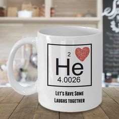 Let's Have Some Laughs Together, Valentines Gift, Valentines Day Gift, Valentines Day Mug, Funny Valentines Gift, Chemist Gift,