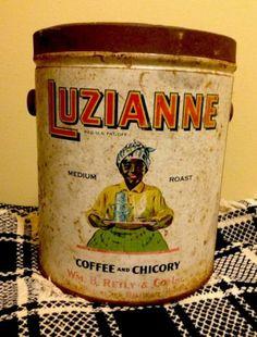 Luzianne Early Old Coffee & Chicory Tin AAFA