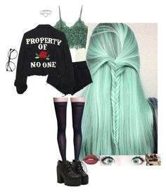 """""""Property of No One"""" by dcthompsonn on Polyvore featuring Sigvaris, MANGO, High Heels Suicide and Lime Crime"""