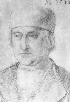 Porträt eines Mannes mit Kappe. Albrecht Durer