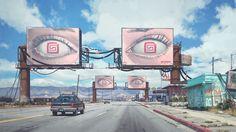 """By Billboards"" by Simon Stålenhag [2560x1440]"