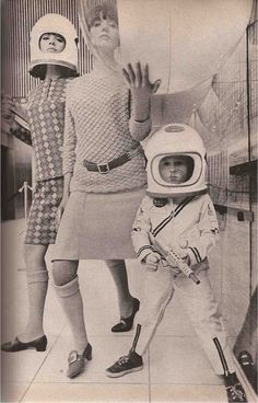 Mademoiselle, September 1965 ( mod fashion / design / astronaut / atomic age style / space age )