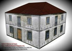 Old Country House Paper Model - Version II - by Edifícios De Papel - == -  This is the second version of the Old Country House paper model. It was created by Spanish designers Mónica and Anibal, from Edifícios de Papel website. This really nice paper model is available in 6 different scales: 1/56 scale(28mm), 1/72 scale, HO scale (1/87), 1/100 scale (15mm), N scale (1/160) and Z scale (1/220). Perfect for Dioramas, RPG and Wargames. Below you will find the link to the first version too.